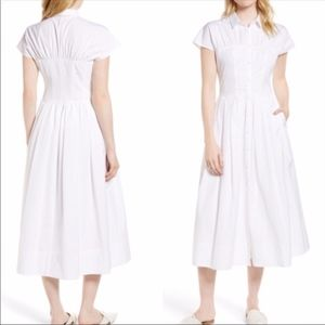 Lewit Cotton Poplin White Shirtdress, Size 12